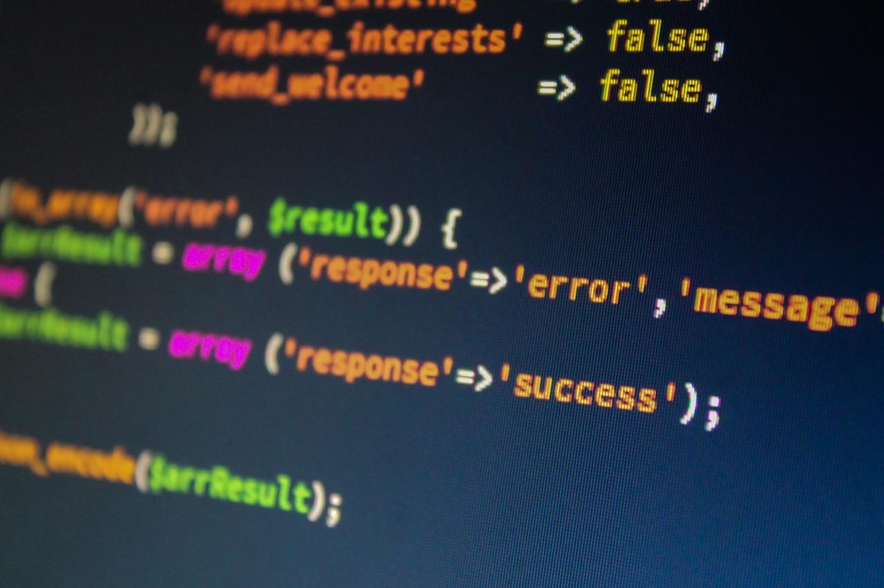 アプリ制作中のコード画面